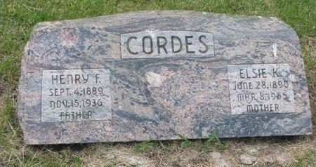 CORDES, ELSIE K. - Dodge County, Nebraska | ELSIE K. CORDES - Nebraska Gravestone Photos