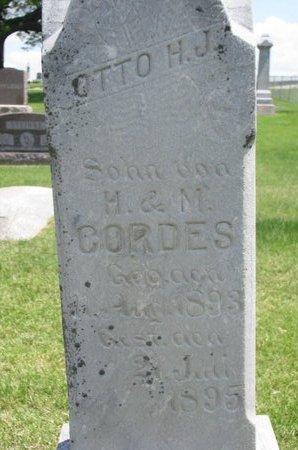 CORDES, OTTO H.J. (CLOSE UP) - Dodge County, Nebraska   OTTO H.J. (CLOSE UP) CORDES - Nebraska Gravestone Photos