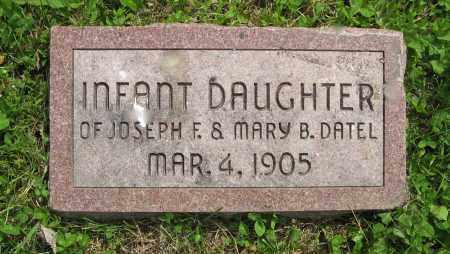 DATEL, (INFANT DAUGHTER) - Dodge County, Nebraska | (INFANT DAUGHTER) DATEL - Nebraska Gravestone Photos