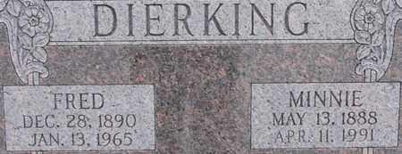 WAGNER DIERKING, MINNIE - Dodge County, Nebraska | MINNIE WAGNER DIERKING - Nebraska Gravestone Photos