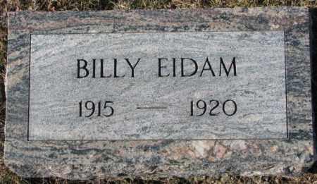 EIDAM, BILLY - Dodge County, Nebraska | BILLY EIDAM - Nebraska Gravestone Photos