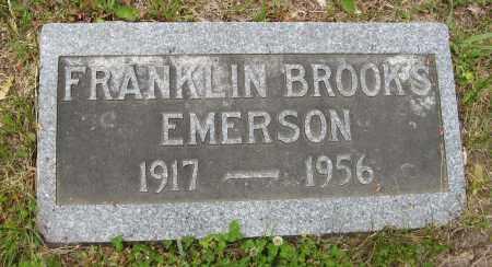 EMERSON, FRANKLIN BROOKS - Dodge County, Nebraska | FRANKLIN BROOKS EMERSON - Nebraska Gravestone Photos