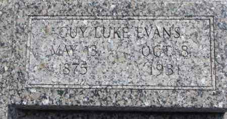 EVANS, GUY LUKE - Dodge County, Nebraska | GUY LUKE EVANS - Nebraska Gravestone Photos