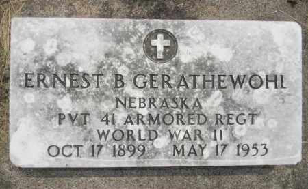 GERATHEWOHL, ERNEST - Dodge County, Nebraska | ERNEST GERATHEWOHL - Nebraska Gravestone Photos