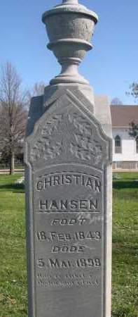 HANSEN, CHRISTIAN - Dodge County, Nebraska | CHRISTIAN HANSEN - Nebraska Gravestone Photos