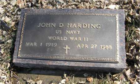 HARDING, JOHN D. (MILITARY MARKER) - Dodge County, Nebraska | JOHN D. (MILITARY MARKER) HARDING - Nebraska Gravestone Photos