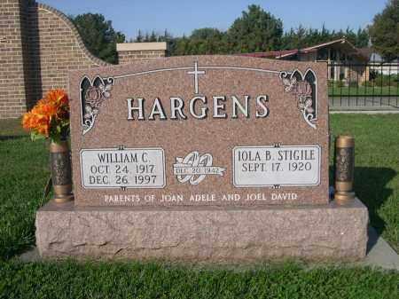 STIGILE HARGENS, IOLA B - Dodge County, Nebraska | IOLA B STIGILE HARGENS - Nebraska Gravestone Photos