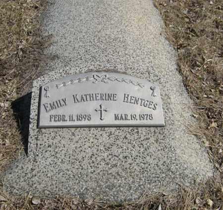 HENTGES, EMILY KATHERINE - Dodge County, Nebraska | EMILY KATHERINE HENTGES - Nebraska Gravestone Photos