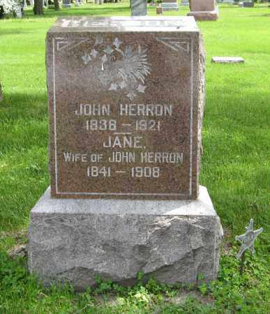 HERRON, JOHN - Dodge County, Nebraska   JOHN HERRON - Nebraska Gravestone Photos