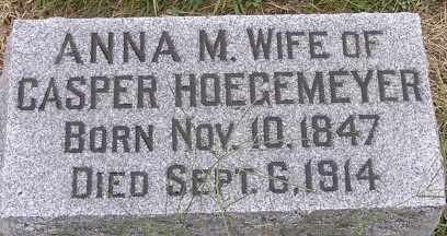 STORK HOEGEMEYER, ANNA M - Dodge County, Nebraska | ANNA M STORK HOEGEMEYER - Nebraska Gravestone Photos