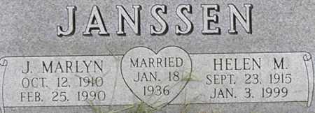 JANSSEN, J. MARLYN - Dodge County, Nebraska | J. MARLYN JANSSEN - Nebraska Gravestone Photos