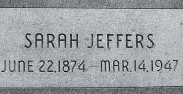 RUPERT JEFFERS, SARAH - Dodge County, Nebraska   SARAH RUPERT JEFFERS - Nebraska Gravestone Photos