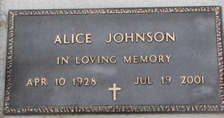 JOHNSON, ALICE - Dodge County, Nebraska | ALICE JOHNSON - Nebraska Gravestone Photos