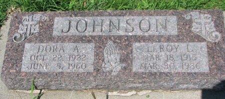 JOHNSON, LEROY L. - Dodge County, Nebraska | LEROY L. JOHNSON - Nebraska Gravestone Photos