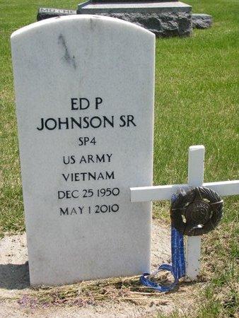 JOHNSON, ED P. SR. - Dodge County, Nebraska | ED P. SR. JOHNSON - Nebraska Gravestone Photos