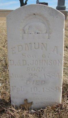 JOHNSON, EDMUN A. - Dodge County, Nebraska | EDMUN A. JOHNSON - Nebraska Gravestone Photos