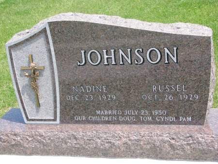 JOHNSON, NADINE - Dodge County, Nebraska | NADINE JOHNSON - Nebraska Gravestone Photos