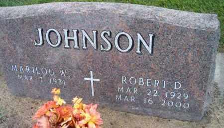 JOHNSON, ROBERT D. - Dodge County, Nebraska | ROBERT D. JOHNSON - Nebraska Gravestone Photos