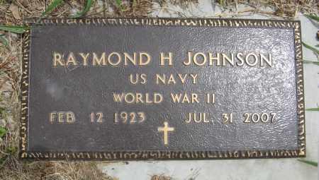 JOHNSON, RAYMOND H. (MILITARY MARKER) - Dodge County, Nebraska | RAYMOND H. (MILITARY MARKER) JOHNSON - Nebraska Gravestone Photos