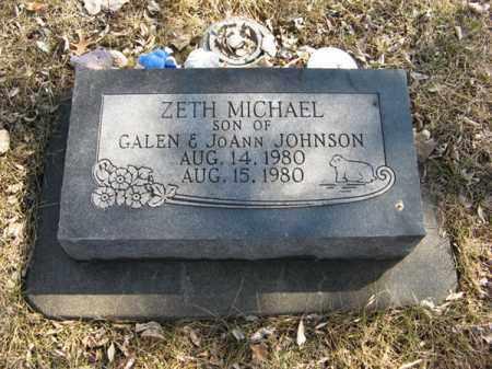 JOHNSON, ZETH MICHAEL - Dodge County, Nebraska   ZETH MICHAEL JOHNSON - Nebraska Gravestone Photos