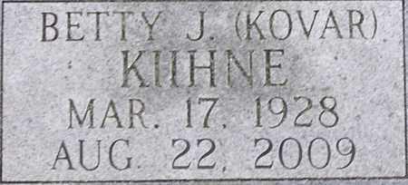 KOVAR KIIHNE, BETTY J - Dodge County, Nebraska | BETTY J KOVAR KIIHNE - Nebraska Gravestone Photos