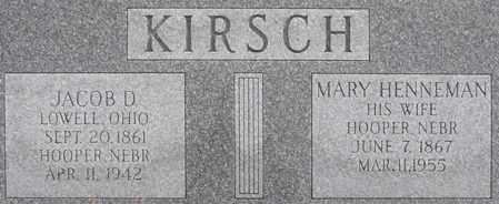 KIRSCH, JACOB - Dodge County, Nebraska | JACOB KIRSCH - Nebraska Gravestone Photos