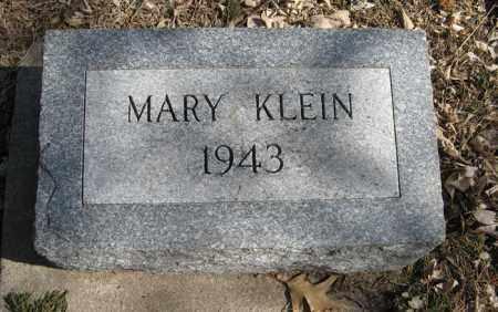 KLEIN, MARY - Dodge County, Nebraska | MARY KLEIN - Nebraska Gravestone Photos