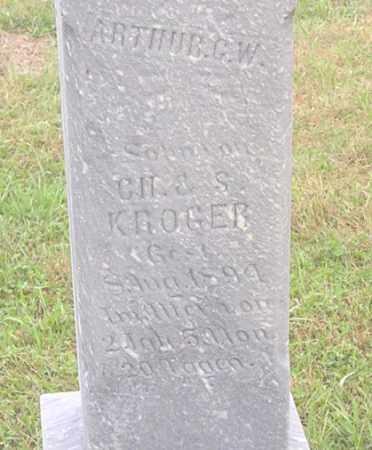 KROEGER, ARTHUR G. W. - Dodge County, Nebraska | ARTHUR G. W. KROEGER - Nebraska Gravestone Photos