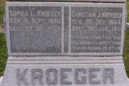 KROEGER, CHRISTIAN J - Dodge County, Nebraska | CHRISTIAN J KROEGER - Nebraska Gravestone Photos