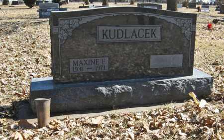 KUDLACEK, MAXINE F. - Dodge County, Nebraska | MAXINE F. KUDLACEK - Nebraska Gravestone Photos