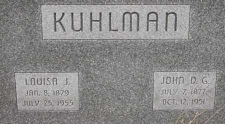 KUHLMAN, LOUISA - Dodge County, Nebraska | LOUISA KUHLMAN - Nebraska Gravestone Photos