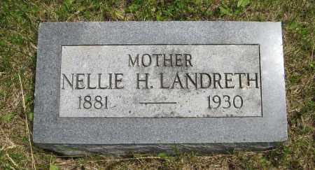 LANDRETH, NELLIE H. - Dodge County, Nebraska | NELLIE H. LANDRETH - Nebraska Gravestone Photos