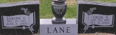 LANE, LORENE - Dodge County, Nebraska | LORENE LANE - Nebraska Gravestone Photos