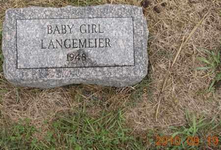 LANGEMEIER, BABY GIRL - Dodge County, Nebraska | BABY GIRL LANGEMEIER - Nebraska Gravestone Photos