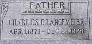 LANGEMEIER, CHARLES E. - Dodge County, Nebraska   CHARLES E. LANGEMEIER - Nebraska Gravestone Photos