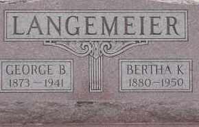 LANGEMEIER, BERTHA K. - Dodge County, Nebraska   BERTHA K. LANGEMEIER - Nebraska Gravestone Photos
