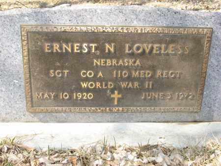 LOVELESS, ERNEST N. (MILITARY MARKER) - Dodge County, Nebraska | ERNEST N. (MILITARY MARKER) LOVELESS - Nebraska Gravestone Photos