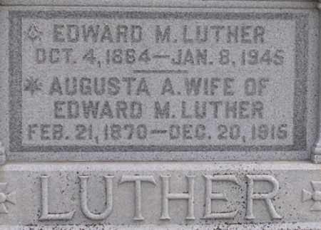 LUTHER, EDWARD - Dodge County, Nebraska   EDWARD LUTHER - Nebraska Gravestone Photos