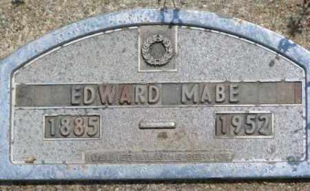MABE, EDWARD - Dodge County, Nebraska | EDWARD MABE - Nebraska Gravestone Photos