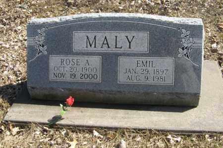 MALY, ROSE A. - Dodge County, Nebraska | ROSE A. MALY - Nebraska Gravestone Photos