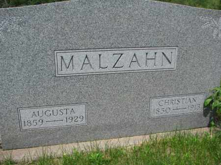 MALZAHN, CHRISTIAN - Dodge County, Nebraska | CHRISTIAN MALZAHN - Nebraska Gravestone Photos