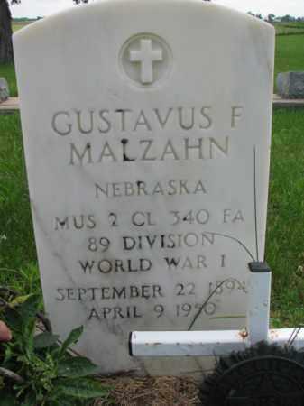 MALZAHN, GUSTAVUS F. - Dodge County, Nebraska | GUSTAVUS F. MALZAHN - Nebraska Gravestone Photos