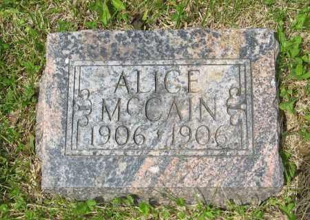 MCCAIN, ALICE - Dodge County, Nebraska | ALICE MCCAIN - Nebraska Gravestone Photos