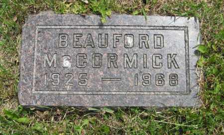 MCCORMICK, BEAUFORD - Dodge County, Nebraska | BEAUFORD MCCORMICK - Nebraska Gravestone Photos