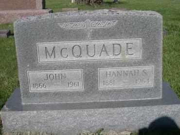MCQUADE, JOHN - Dodge County, Nebraska | JOHN MCQUADE - Nebraska Gravestone Photos