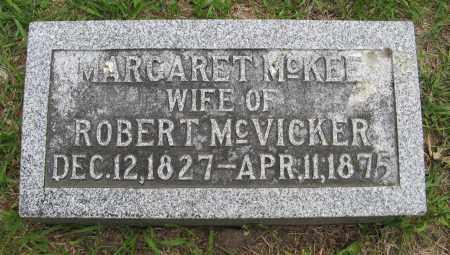 MCKEE MCVICKER, MARGARET - Dodge County, Nebraska | MARGARET MCKEE MCVICKER - Nebraska Gravestone Photos