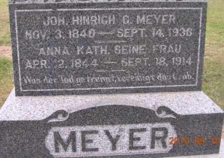MEYER, JOHN H. G. - Dodge County, Nebraska | JOHN H. G. MEYER - Nebraska Gravestone Photos