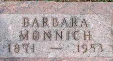 MONNICH, BARBARA - Dodge County, Nebraska   BARBARA MONNICH - Nebraska Gravestone Photos
