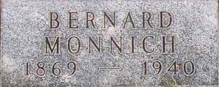 MONNICH, BERNARD - Dodge County, Nebraska | BERNARD MONNICH - Nebraska Gravestone Photos