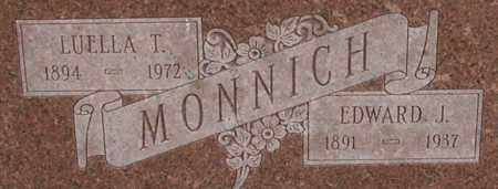 MONNICH, EDWARD - Dodge County, Nebraska | EDWARD MONNICH - Nebraska Gravestone Photos